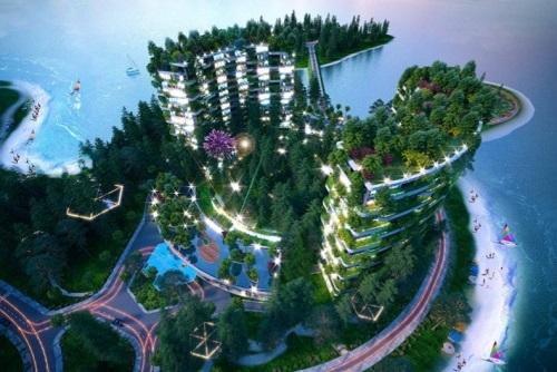 The Legend có địa thế độc đáo tại bán đảo đẹp nhất hồ Đại Lải.