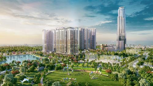 Tòa khách sạn Hyatt cao 69 tầng nằm trong tổ hợp dự án Eco Green Saigon.