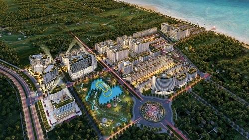 Hình ảnh phối cảnh dự án Sim Island tại Bãi Trường, Phú Quốc.