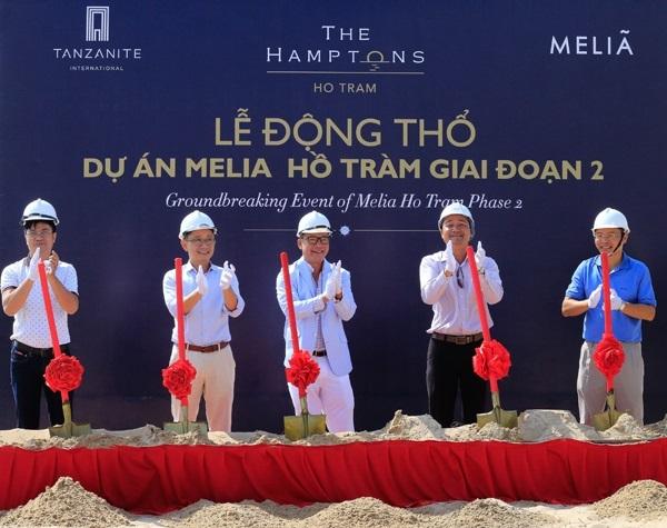 Lễ động thổ dự án The Hamptons Hồ Tràm (Melia Hồ Tràm giai đoạn hai) hôm 17/11 tại ấp Hồ Tràm, xã Phước Thuận, huyện Xuyên Mộc, tỉnh Bà Rịa - Vũng Tàu.