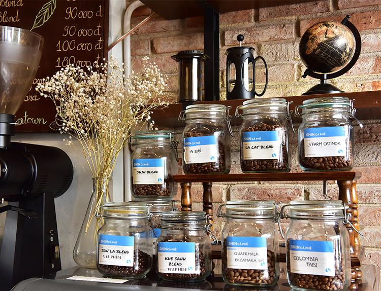 Những sản phẩm cà phê đặc sản tại Shin Cà phê.