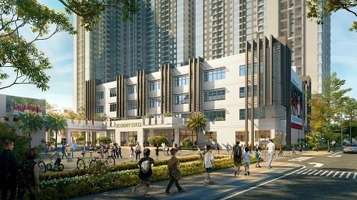 Cư dân dự án được hưởng môi trường sống hiện đại ngay trung tâm Cầu Giấy.