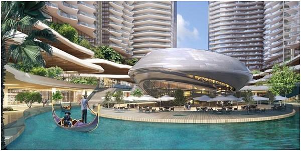 Sunshine Marina Bay sẽ sở hữu hàng loạt những tiện ích bao gồm: sông nội khu, bể bơi vô cực và loạt sky bar đẳng cấp 5 sao.