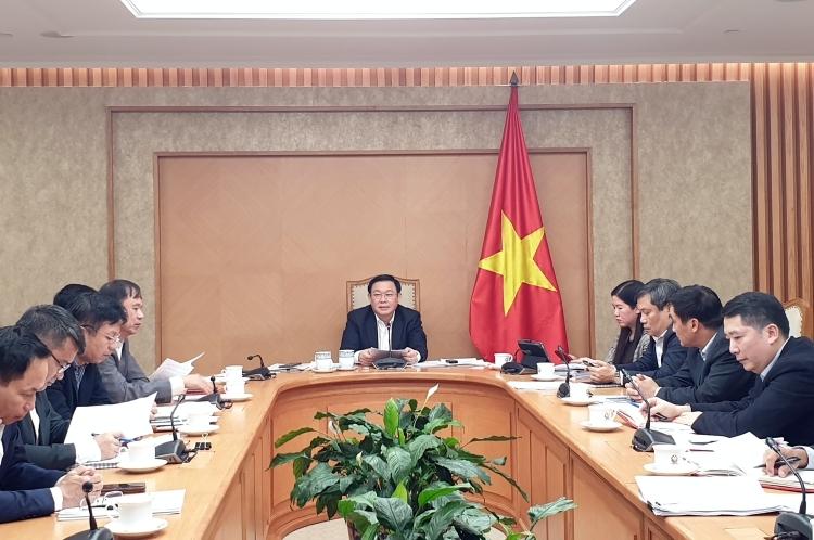 Phó thủ tướng Vương Đình Huệ chủ trì cuộc họp ngày 29/11. Ảnh: VGP