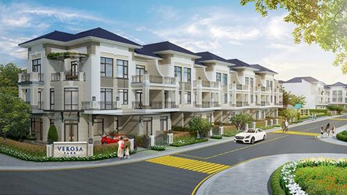 Verosa Park có tổng quy mô 8,1ha, giới hạn chỉ 296 căn nhà liên kế và biệt thự hạng sang, tọa lạc gần vòng xoay Liên Phường, Võ Chí Công, phường Phú Hữu, quận 9 (kế cận quận 2).