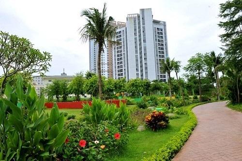 Không gian sống xanh tại Hồng Hà Eco City.