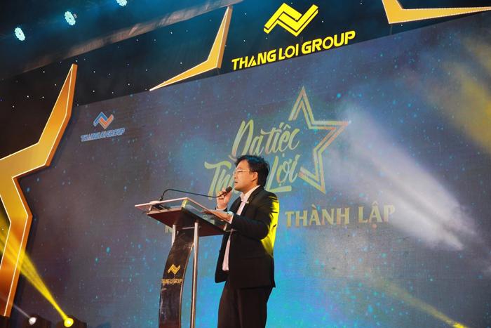 Ông Dương Long Thành – Chủ tịch HĐQT Thắng Lợi Group phát biểu tại sự kiện Dạ tiệc Thắng Lợi – Kỷ niệm 9 năm thành lập