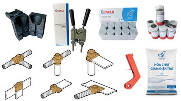 Các sản phẩm hòa hóa nhiệt sử dụng trong hệ thống chống sét tiếp địa.