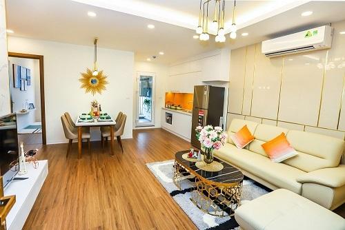 Không gian một căn hộ mẫu77,2 m2