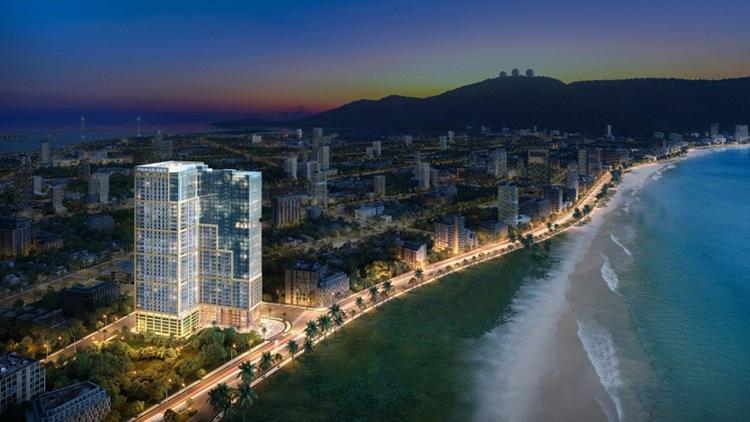 Phối cảnh dự án Premier Sky Residences dự kiến cất nóc trước Tết Nguyên đán 2020.