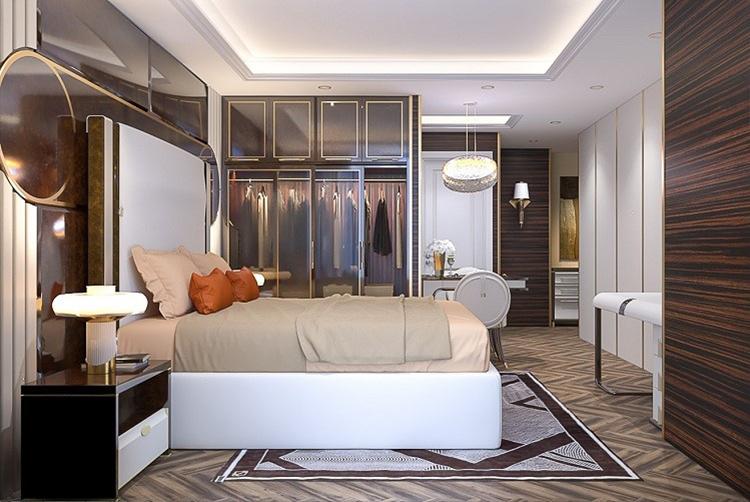 Phòng ngủ tại một căn hộ của dự án Premier Sky Residences