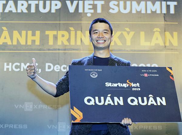 Phan Xuân Cảnh - nhà sáng lập startup Viec.Co trở thành quán quân Startup Việt 2019.
