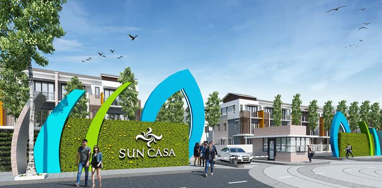 Phối cảnh cổng chào khu đô thị Sun Casa.