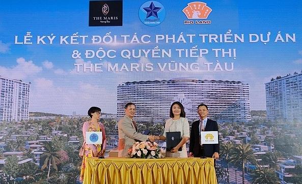 Các đối tác ký kết thỏa thuận hợp tác phân phối The Maris Vũng Tàu.