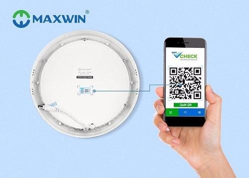 Đèn led ốp trần Maxwin là thiết bị đầu tiên được Đại Phát ứng dụng quét mã QR.