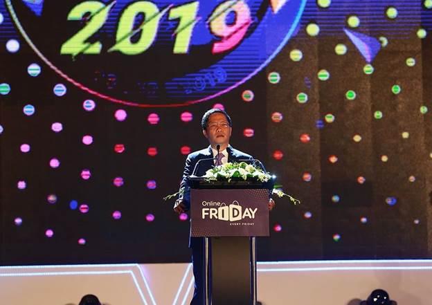 Bộ trưởng Bộ Công thương Trần Anh Tuấn phát biểu tại sự kiện.