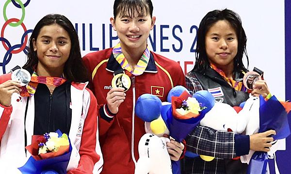 Bơi tiếp tục là niềm hy vọng Vàng của Thể thao Việt Nam. Ảnh: Phạm Đương.