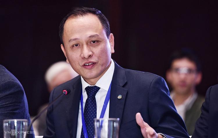 Ông Lê Hồng Hà - Phó tổng giám đốc VietnamAirlines.Ảnh: Giang Huy