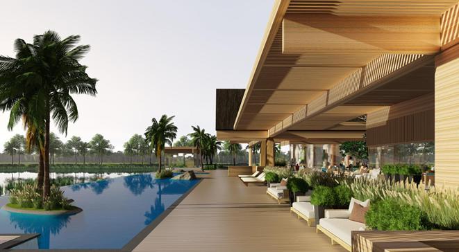 Thiết kế Clubhouse của biệt thự đảo Ecopark Grand The Island.