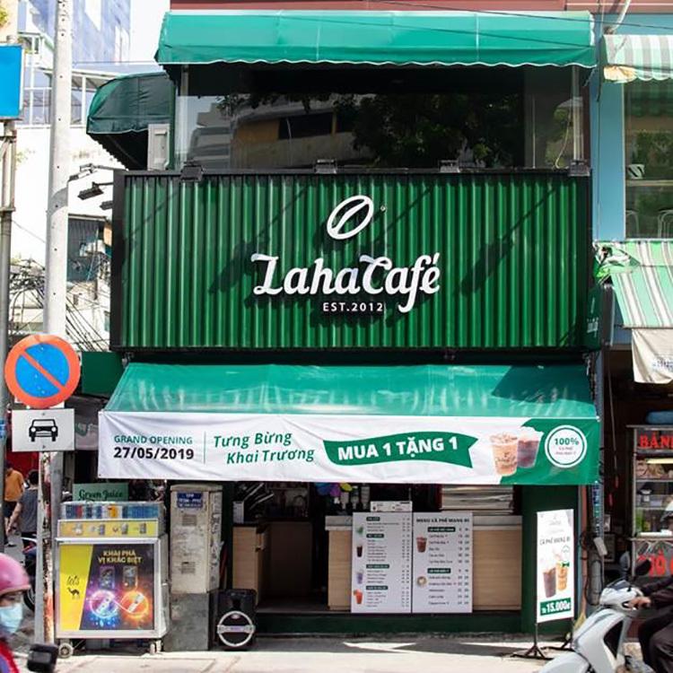 Một cửa hàng của Laha Cafe tại 18A Nguyễn Thị Minh Khai, phường Bến Nghé, quận 1, TP Hồ Chí Minh