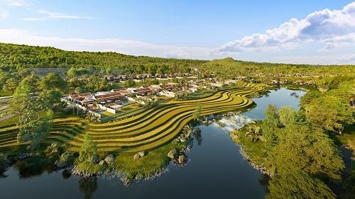 Căn biệt thự nghỉ dưỡng Park Hyatt Phu Quoc nhìn từ xa.