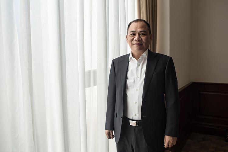 Chủ tịch Vingroup Phạm Nhật Vượng hiện là người giàu nhất Việt Nam. Ảnh: Bloomberg