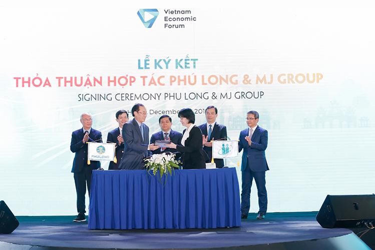 Lễ ký thỏa thuận hợp tác giữa Phú Long và MJ Group.