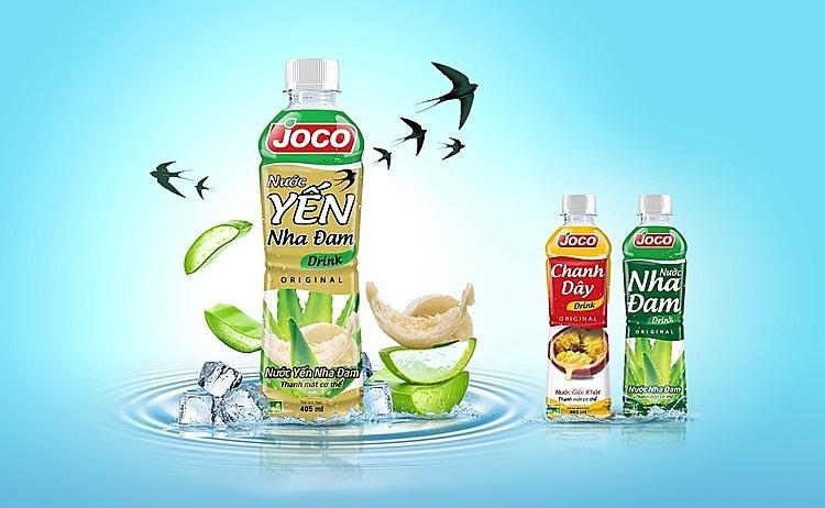 Nước trái cây Joco với 3 sản phẩm tiên phong là Yến Nha Đam, Chanh Dây và Nha Đam mang đến trải nghiệm tươi mới và tốt cho sức khỏe.
