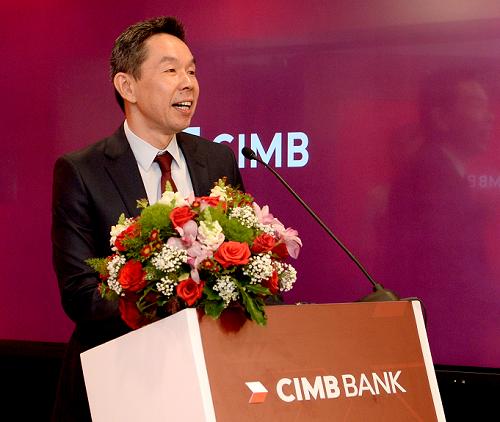 Ông Thomson Fam Siew Kat -Giám đốc điều hành CIMB Việt Nam phát biểu trong lễ khai trương chi nhánh TP HCM và ra mắt ứng dụng Octo by CIMB.