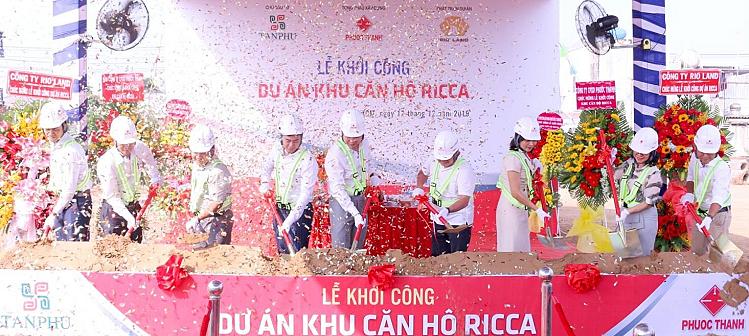 Lễ khởi công dự án Ricca hôm 12/12.
