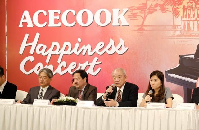 Ông Kajiwara Junichi - Tổng giám đốc Acecook Vietnam trong buổi họp báo công bố chuỗi hoà nhạc Acecook Happiness Concert 2020.