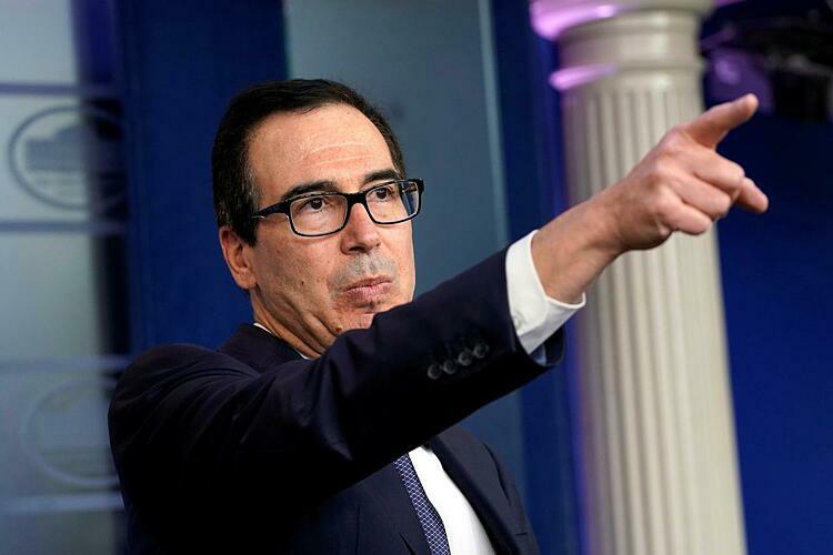 Bộ trưởngTài chính Mỹ Steven Mnuchin. Ảnh: Reuters
