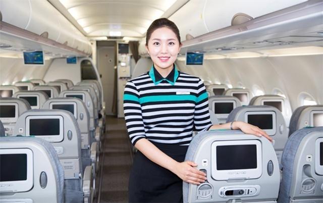 Nội thất khoang máy bay Air Seoul