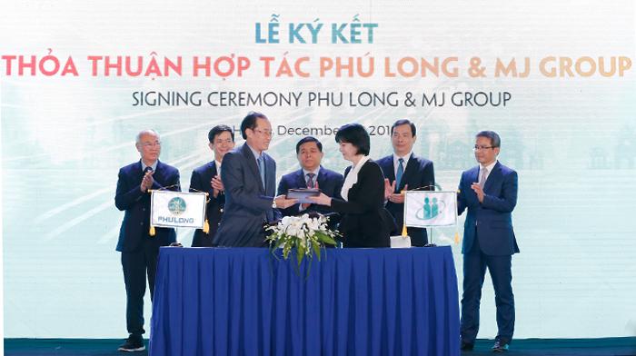 Lễký kết hợp tác giữa Phú Long và tập đoàn MJ.