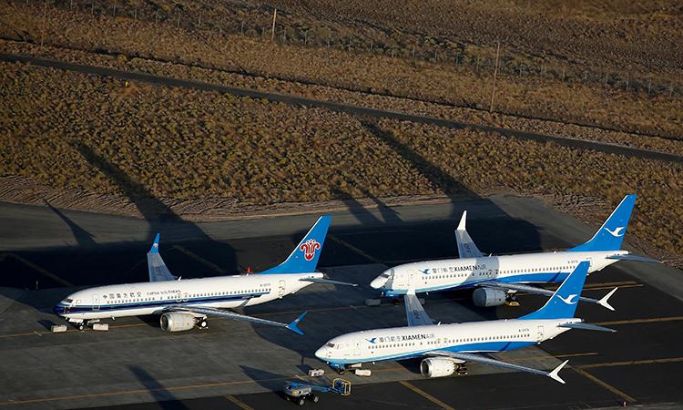 3 máy bay 737 Max dừng bay tại cơ sở của Boeing ở Washing hồi tháng 9. Ảnh: Reuters