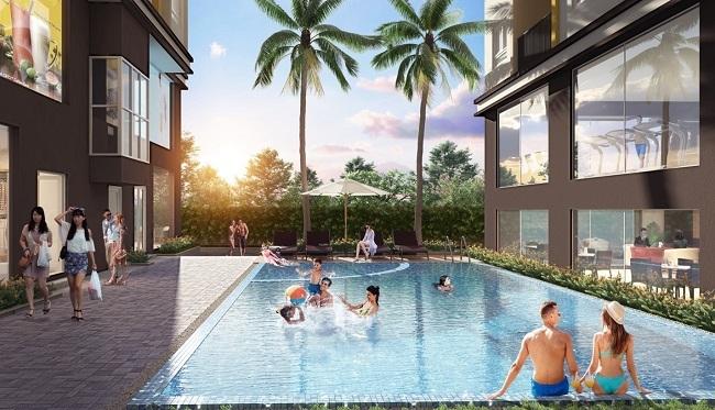 Tiện ích bể bơi tại dự án.