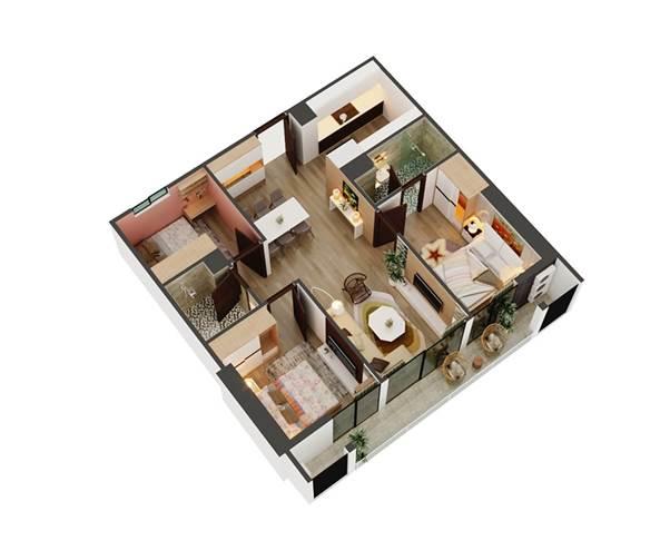 Căn hộ lớn 3 phòng ngủ cho gia đình - 1