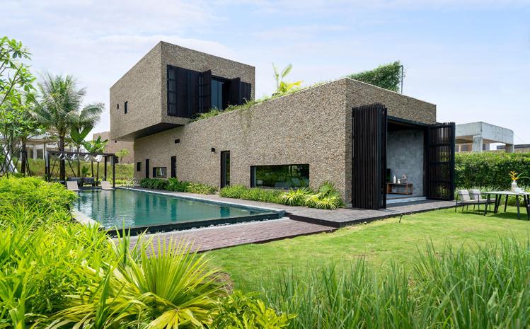 Kiến trúc hài hòa thiên nhiên của một biệt thự X2 Hội An Resort & Residence.