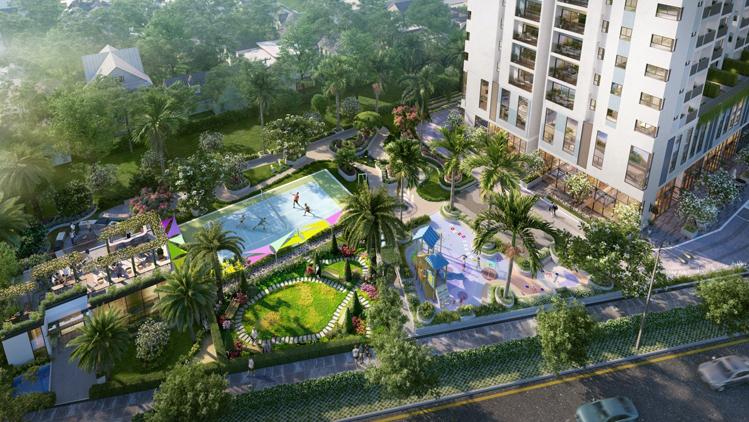 Chủ nhân căn hộ duplex Ricca thừa hưởng hệ thốngtiện ích chung của cả khu căn hộ như hồ bơi trong nhà, khu mua sắm hiện đại, sân thể thao, nhà trẻ... Chi tiết tại đây.