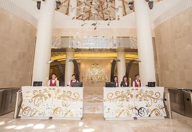 Sảnh lễ tân Corona Casino Phú Quốc.