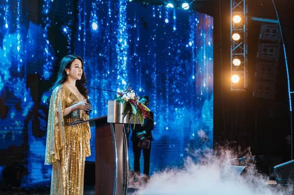 Chủ tịch Hội đồng quản trị kiêm CEO Hathor Group - bà Nguyễn Thị Ánh phát biểu khai mạc sự kiện.