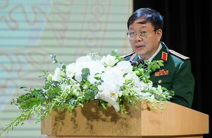 Ông Lê Đăng Dũng - Quyền chủ tịch kiêm Tổng giám đốc Tập đoàn Viettel phát biểu tại đại hội.
