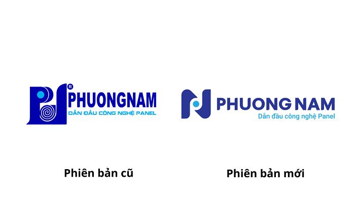 Logo mới của Cách nhiệt Phương Nam (phải) có phong cách mới mẻ, gần gũi hơn phiên bản cũ.