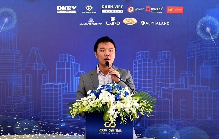 Ông Vũ Lý Cung - Phó tổng giám đốc Danh Việt Group chia sẻ trong buổi lễ.