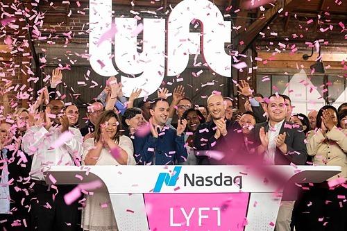 Buổi IPO của Lyft vào tháng 3/2019. Ảnh: AP