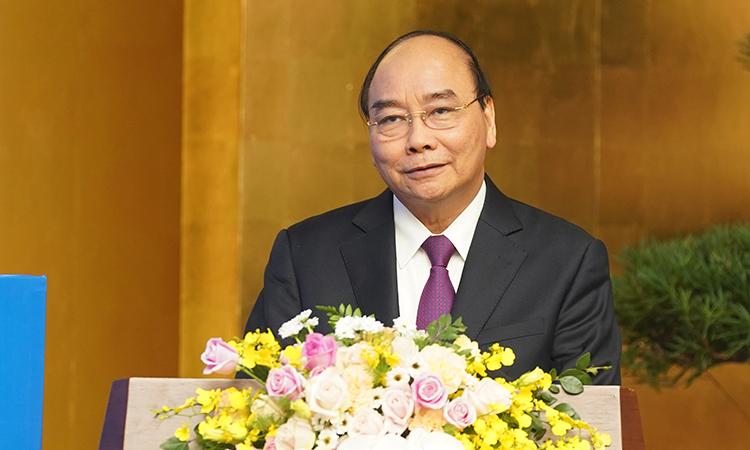 Thủ tướng Nguyễn Xuân Phúc phát biểu tại sự kiện cuối ngày 30/12. Ảnh: VGP
