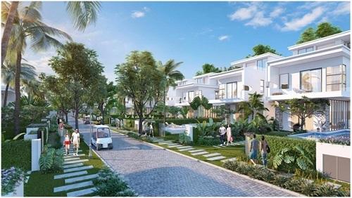 Phối cảnh một góc phân khu Premier Village tại dự án Lagoona Bình Châu.