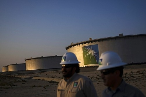 Một cơ sở dầu mỏ của Saudi Aramco. Ảnh: Bloomberg