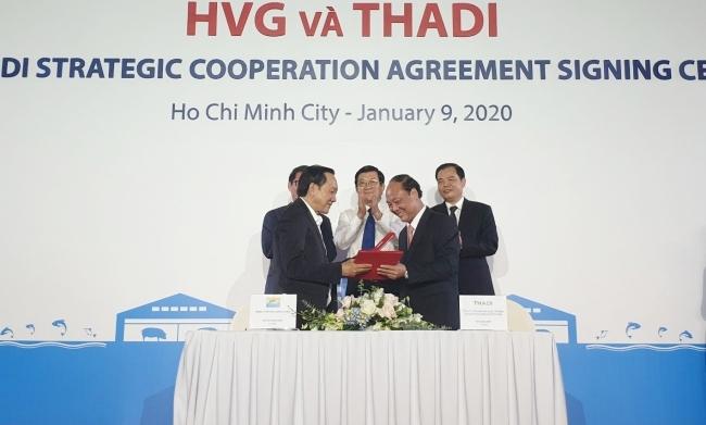 Đại diện Thadi và HVG ký hợp tác chiến lược. Ảnh: Phương Đông.