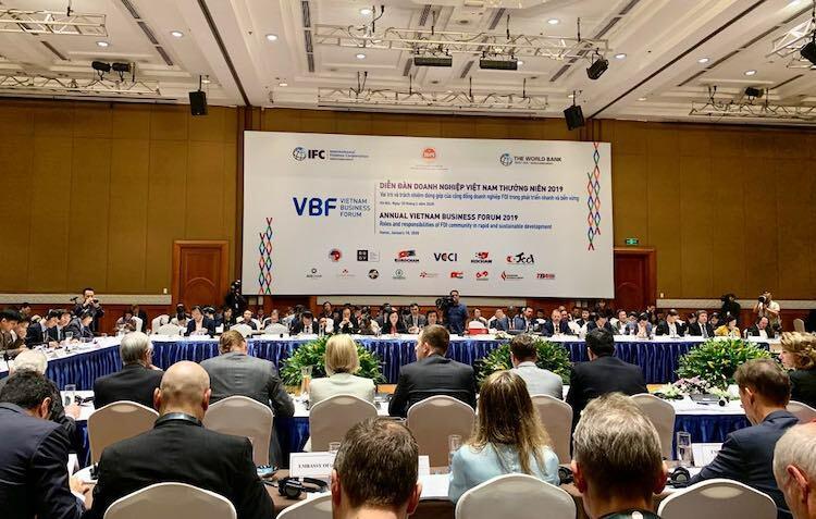 Toàn cảnh DIễn đàn thường niên VBF 2019, ngày 10/1 tại Hà Nội. Ảnh: Anh Minh